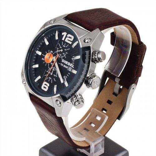 DZ4204 DIESEL ADVANCED BROWN LEATHER STRAP CHRONOGRAPH QUARTZ MEN'S WATCH