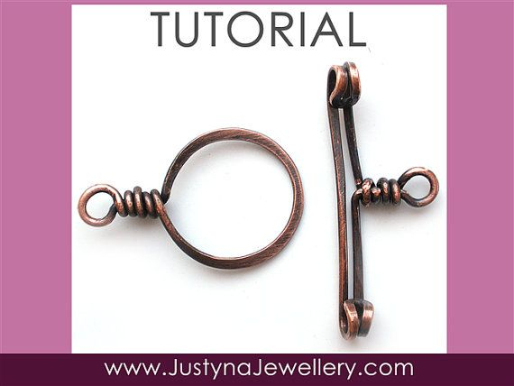 Toggle Clasp Tutorial Wire Clasp Tutorial by JustynaJewellery Paid