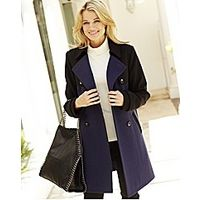 Colour Block Coat - Large Size Clothing and Maternity Wear - www.plussizedglamour.co.uk