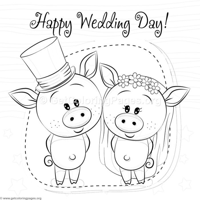 Free Instant Downloads Cute Happy Wedding Day Piggy Coloring Pages Coloring Coloringboo Coloring Pages Precious Moments Coloring Pages Wedding Coloring Pages