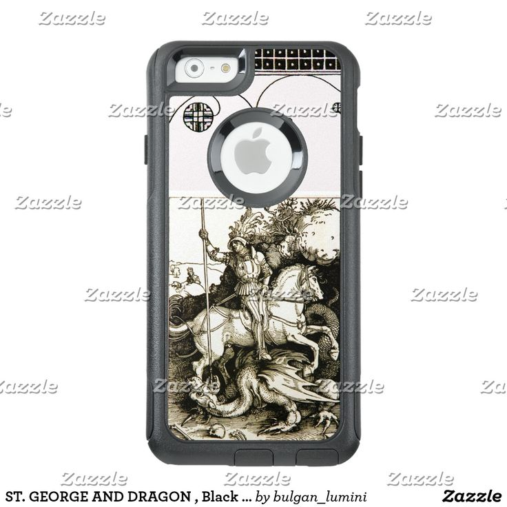 ST. GEORGE AND DRAGON , Black White OtterBox iPhone 6/6s Case #durer #christian #saintgeorge #fineart