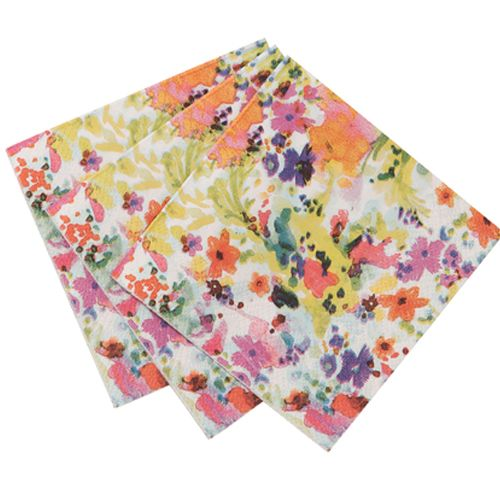 Floral Fiesta Canape Paper Napkins  $9.00 http://www.fancyflours.com/product/floral-fiesta-paper-napkins/s