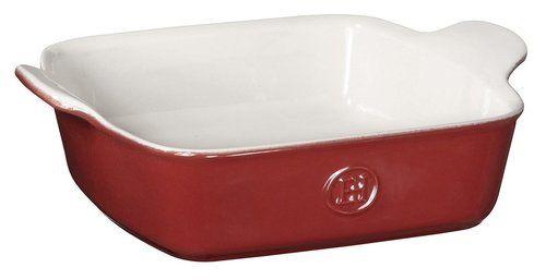 "Emile Henry HR Modern Classics Square Baking Dish 8 x 8"""" / 2 Qt, Red"