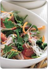 Beef, chilli and lime noodle salad