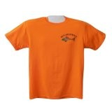 Ringnecktrout Trouts Safety Orange S Imprinted Mens Cotton Short Sleeve T-ShirtBy Ringnecktrout