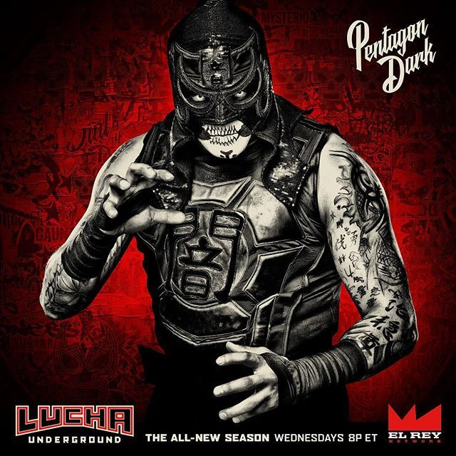 Pentagon Dark is going to break your arms. Don't miss the #LuchaUnderground Season Premiere Wednesday 9/7 at 8p ET on @ElReyNetwork! luchaunderground  2016/09/06 04:02:27