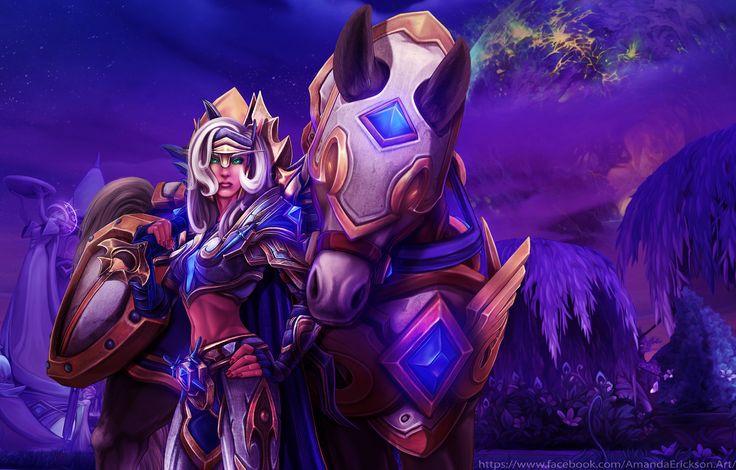 Blood Elf Paladin and her mount #worldofwarcraft #blizzard #Hearthstone #wow #Warcraft #BlizzardCS #gaming