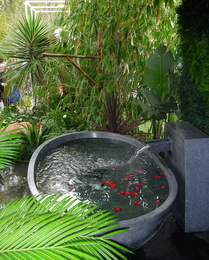 Custom stone waterfeature