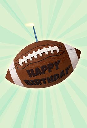 """Football birthday"" printable card. Customize, add text and photos. print for free!"