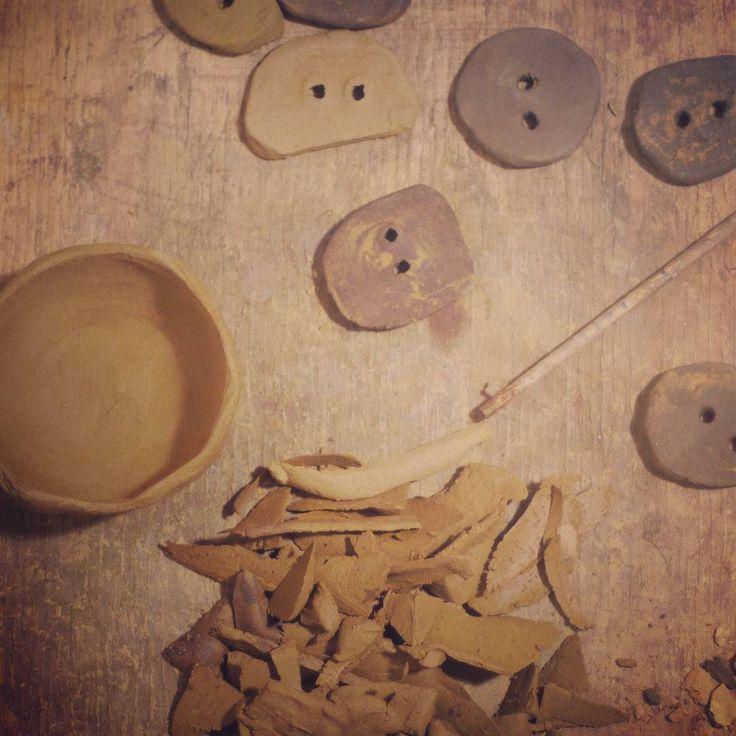 making buttons for another raku kiln.