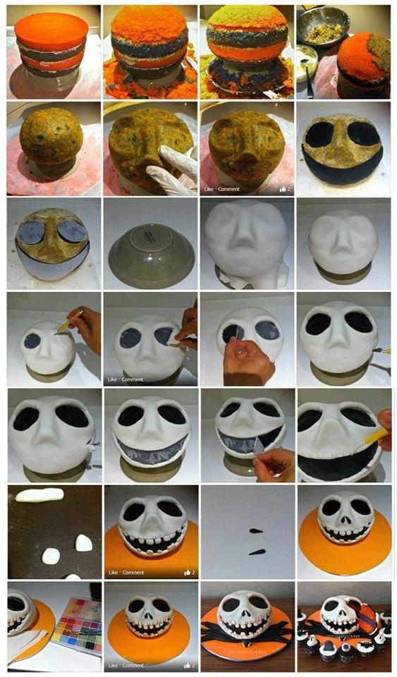 Jack Skellington Head Tutorial.It is created by https://www.facebook.com/JoyliciousCakes. https://www.facebook.com/media/set/?set=a.300776973359656.59504.243836229053731=3  #halloween