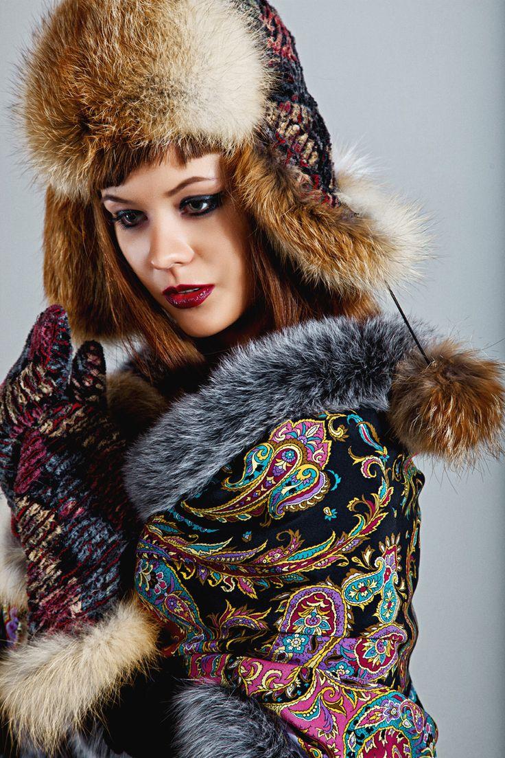 Женские меховые шапки. Купить шапку из меха красной лисы