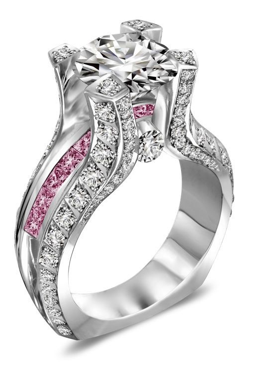 perfection absolutely love this ring pink wedding ring - Pink Wedding Rings