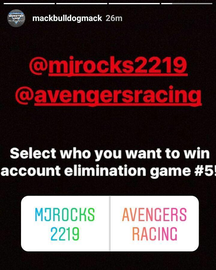Come help me out guys on Mack's elimination game!!! Thanks!! #monsterjam #nascar #f1 #drifting #racing #mechanic #art #legend #wraps #paint #schemes #Indianapolis #gravedigger #cars #trucks #mechanic #indi #wheelie #stunts #backflip #avengence #yeahhhhhhh