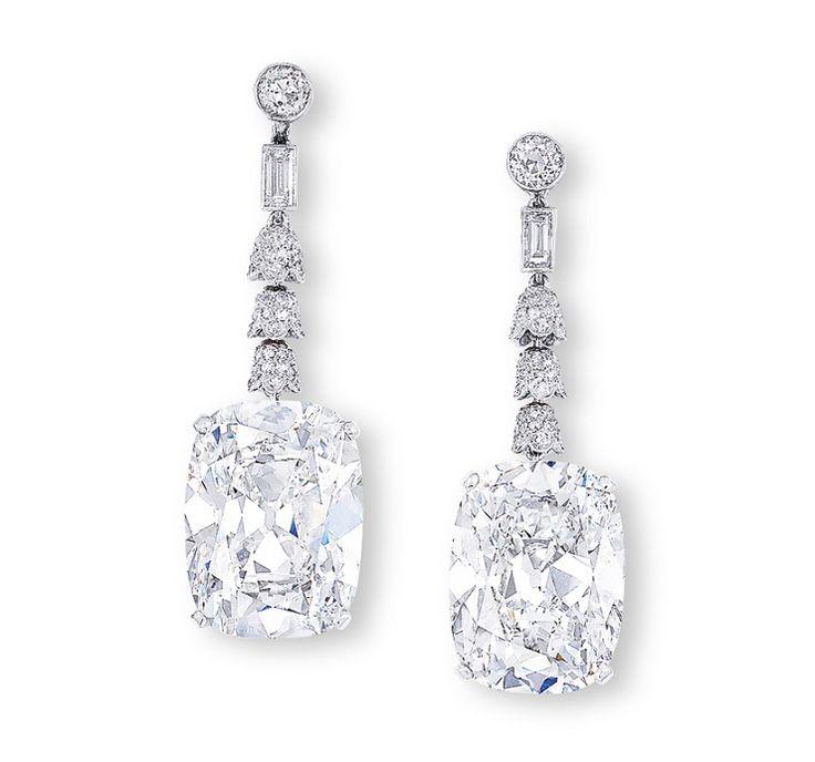 I regali di Natale più lussuosi - Orecchini di diamanti Golconda