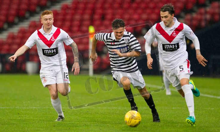 Queen's Park's Ewan MacPherson in action during the Betfred Cup game between Queen's Park and Airdrieonians.