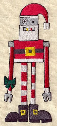 Embroidery Designs at Urban Threads - Robot Santa