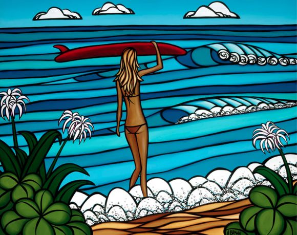 Surf art by Heather Brown. This is what vacation looks like!