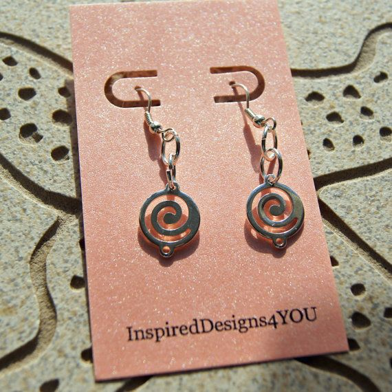 Spiral Crop Circle Sterling Silver Earrings by InspiredDesigns4YOU, $15.00. https://www.etsy.com/listing/189472209/spiral-crop-circle-sterling-silver?ref=shop_home_active_3