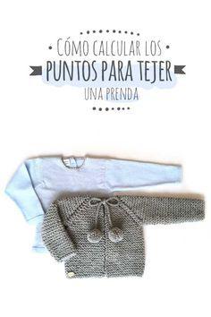 Cómo calcular los puntos para tejer una prenda via @https://es.pinterest.com/martaporcel/
