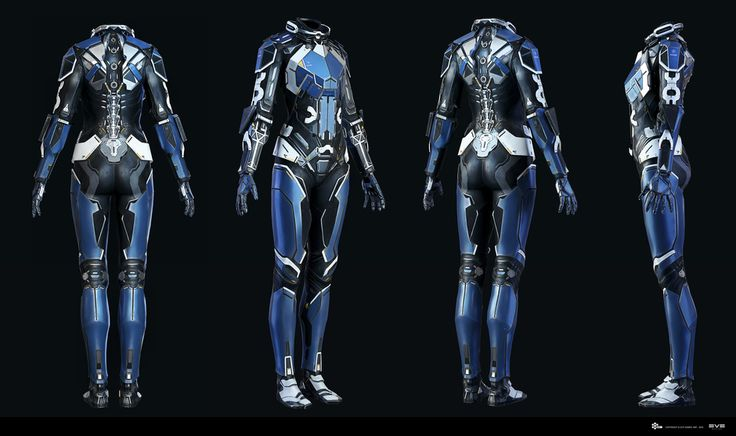 EVE - Combat Suit - Game model by Andrei Cristea | Robotic/Cyborg | 3D | CGSociety