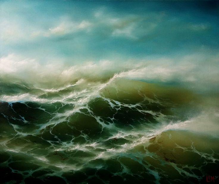 живопись - морской пейзаж, купить картину Идеальный шторм 2