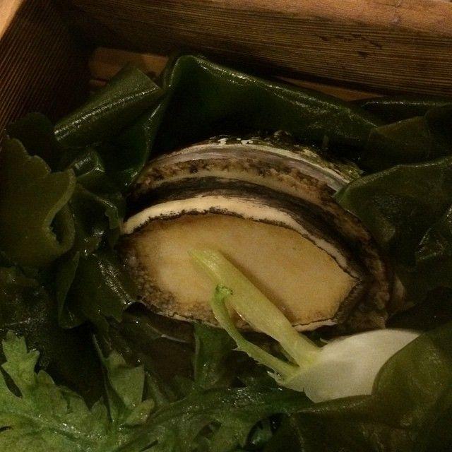 アワビ 鮑がはいってました つけあわせの昆布もこんぶってこんなにおいしいのってくらい美味しい昆布 鮑 と こんぶって好きじゃなかったけど 昨日のホッキ貝といい北海道って私の味覚革命引き起こすよ #味覚 #革命 #taste #revolution #Innovation #改革 #鮑 #アワビ #Awabi #abalone #seafood  #最高 #Tasty #懐石 #Kaiseki #French #フレンチ #和食 #Japasese #夕食 #Oishii #Tasty #favorite #鹿部 #北海道 #日本 #vacation #summer by lovekiitos