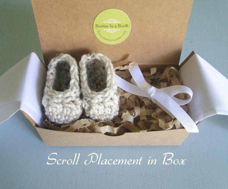 Grandparent Pregnancy Announcement, Grandparent Poem, BOOTIES IN A BOX®, Baby Boy or Girl Booties   Children   Shoes - Zeppy.io