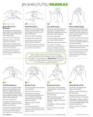 Mudras Chart | Inner Stillness