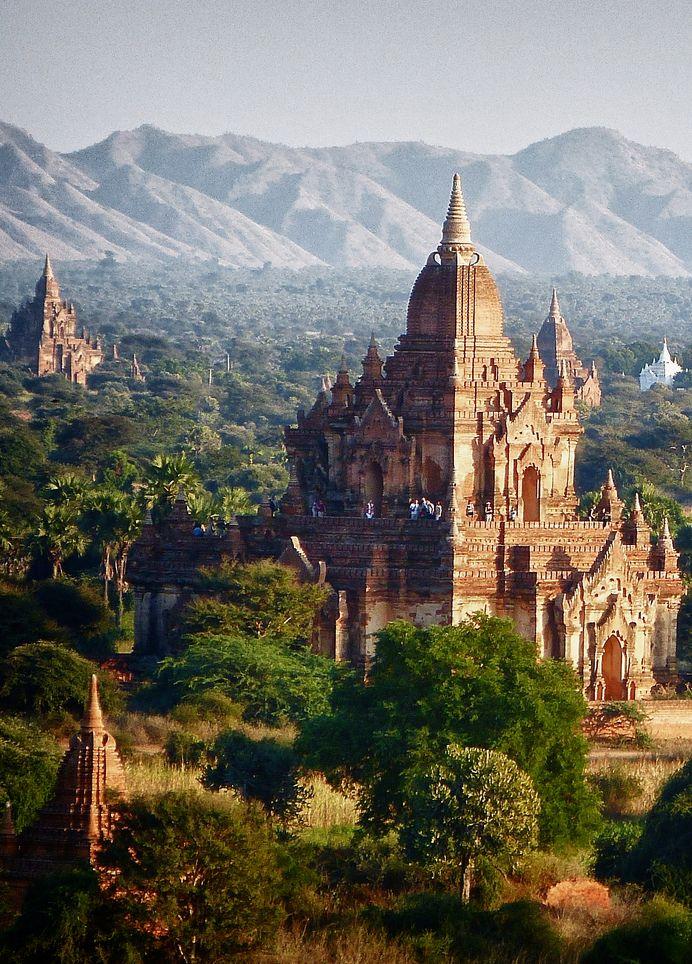 "manolescent: "" In the gentle light of late afternoon. Pagan, Myanmar "" Myanmar."