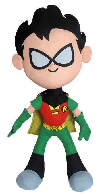 "Amazon.com: Robin ~7.5"" Plush: Teen Titans Go! Plush Series: Toys  Games"