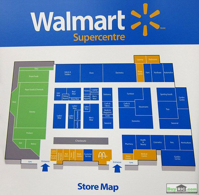 Map of Inside of Walmart Changes inside the new format