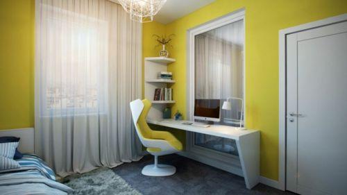 zeitgenössisches Apartment mit atemberaubender Inneneinrichtung schreibtisch