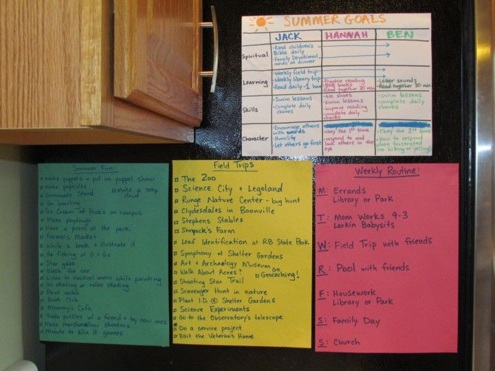 How to Make My Summer 2014 at Home with Kids Count - Goals, a weekly schedule, a chore chart, field trip ideas, and bucket list ideas included!