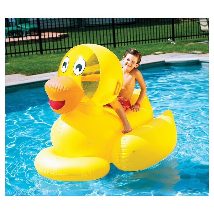 Perfect Swimline Giant Ducky. Inflatable Pool ToysPool ...