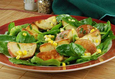 Tops Friendly Markets - Recipe: Corn and Red Potato Spinach Salad