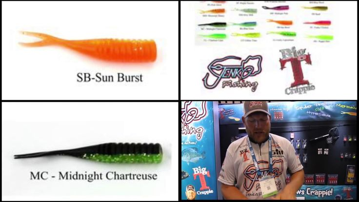 Jenko Fishing Big T crappie lures featuring Tony Sheppard at ICAST
