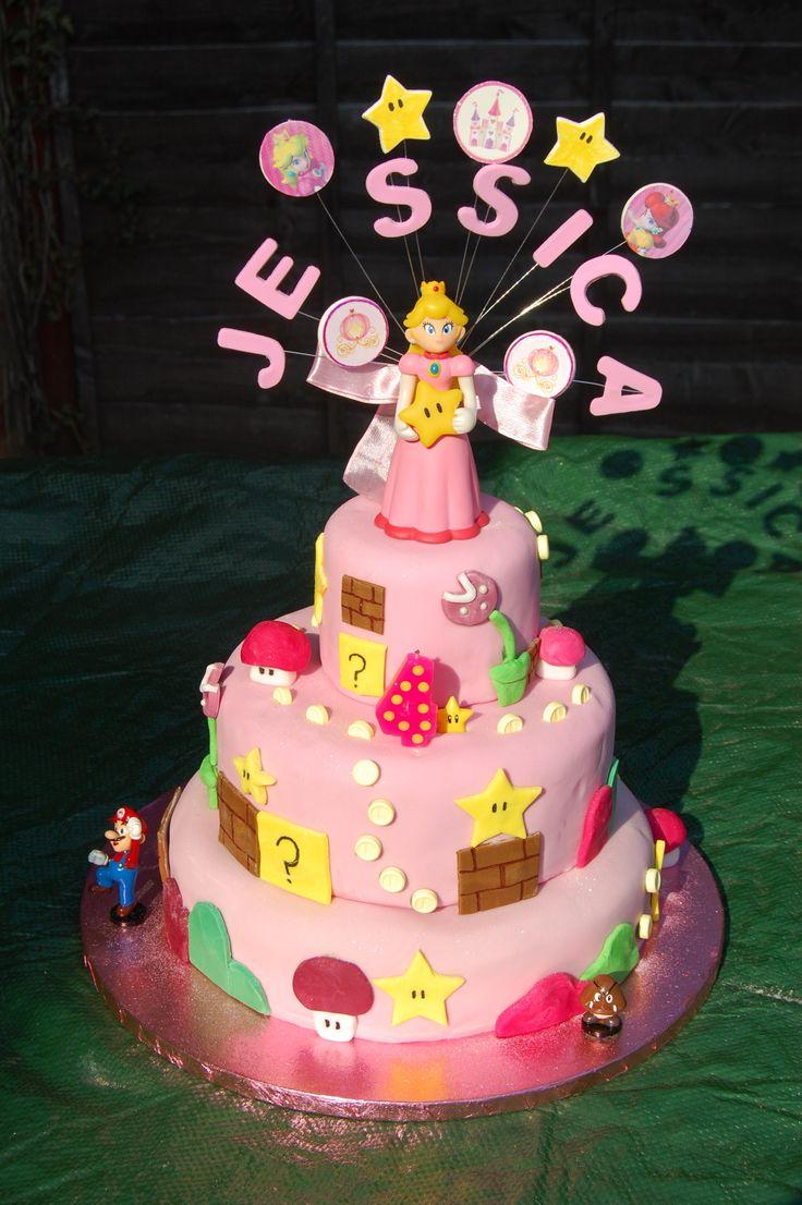 Princess Peach Cake Nintendo Party Pinterest Peach