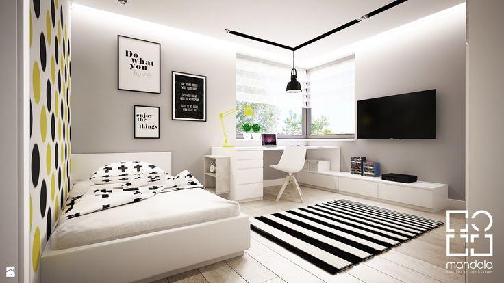 Pokoik dla chłopca 15 m2 - zdjęcie od studio_projektowe_mandala - Pokój dziecka - Styl Skandynawski - studio_projektowe_mandala