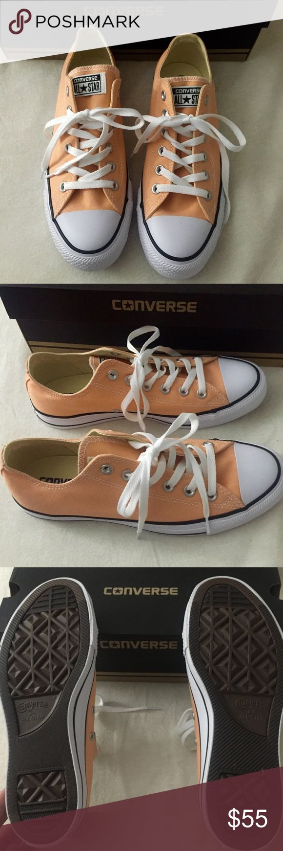 🌹🌹Flash sale 🌹🌹Brand new coral color converse Beautiful color , brand new never been worn . It's men size 7/women 9!!💥💥💥The price is firm 💥💥💥 Converse Shoes Sneakers