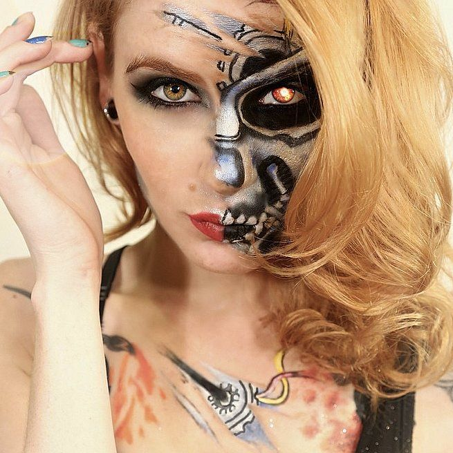 Les 25 meilleures id es de la cat gorie toile d 39 araign e - Maquillage toile d araignee visage ...