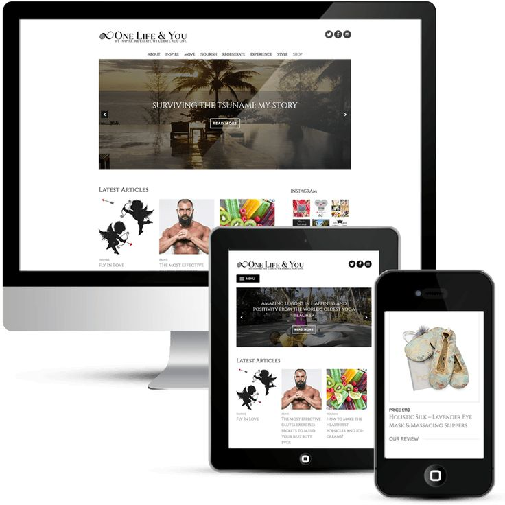 One Life & You WordPress Lifestyle Blog design.