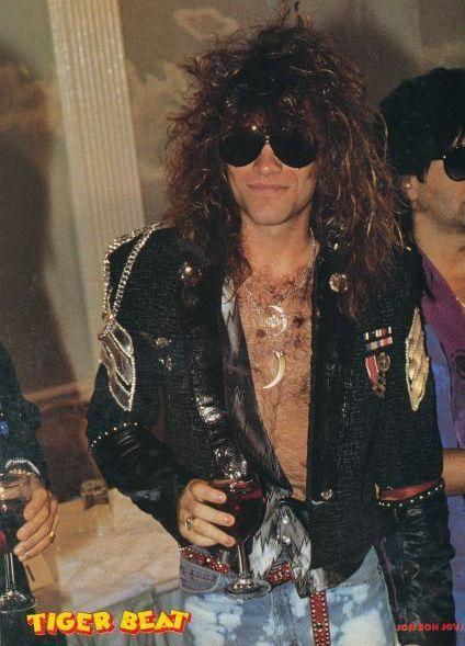 Jon Bon Jovi - Tiger Beat magazine! The big hair bands of the 80s!