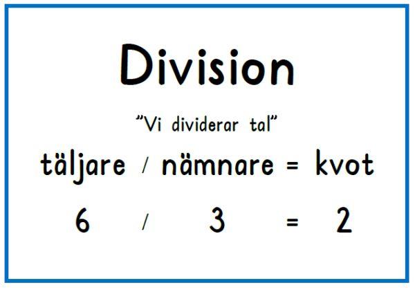 Division plansch
