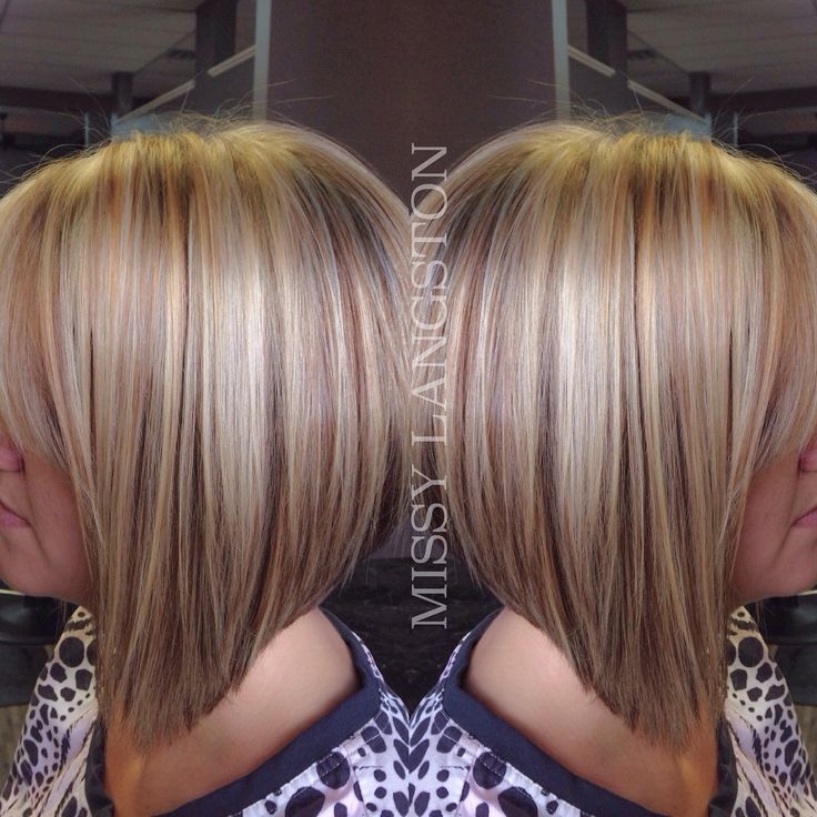 Short blonde inverted bob using Olaplex by Missy Langston. Blondie's Hair Salon (864) 226-3030 #teamblondies