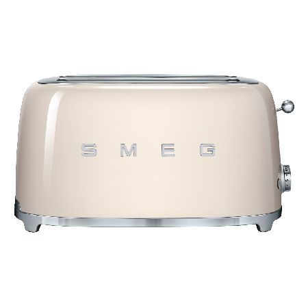 Smeg TSF02CRUK Designed with a retro 50s style, the Smeg TSF02CRUK 4 Slice Toaster will look great in any kitchen, and even better if paired with the other Smeg 50s style products.There are 2 extra wide long slots c http://www.MightGet.com/february-2017-3/smeg-tsf02cruk.asp