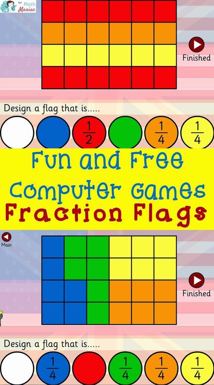 The Elementary Math Maniac: Fun and Free Computer Games: Fraction Flags