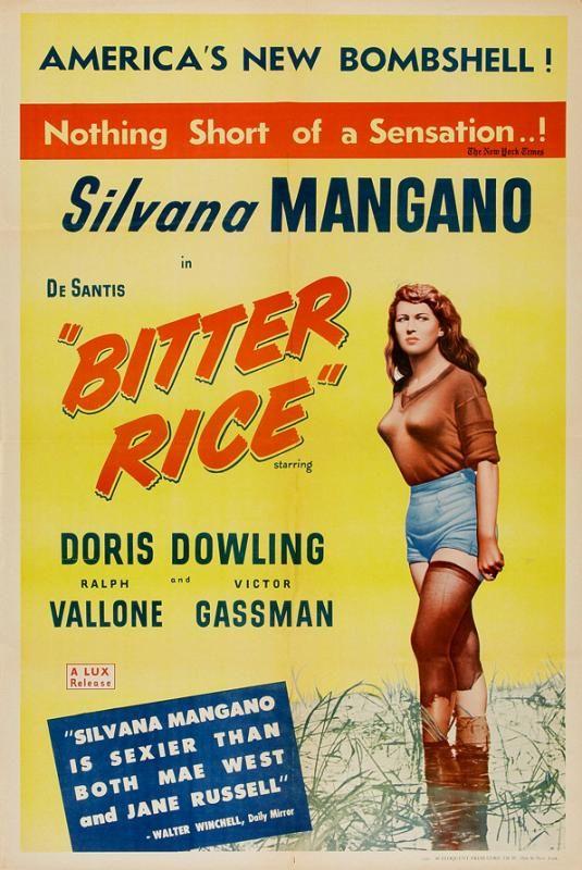 """""""Bitter rice"""" (1949)."""