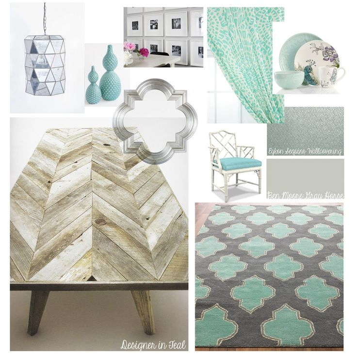 High Quality Designer In Teal: Mood Board: Dining Room Love The Idea Of A Dining Table  With Chevrons. Part 29