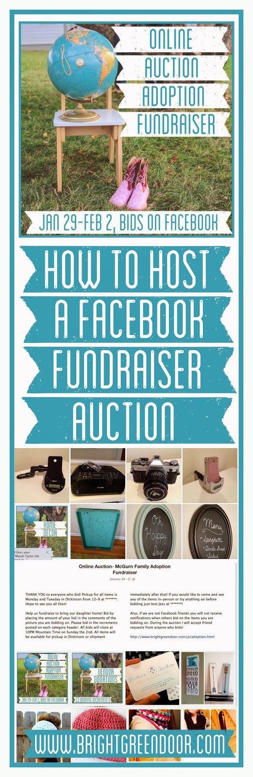 Online Facebook Auction Fundraiser